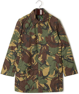 Lavenham HARKSTEAD PACKABLE 迷彩柄 ステンカラー キルティングジャケット カモフラージュxグリーン 38