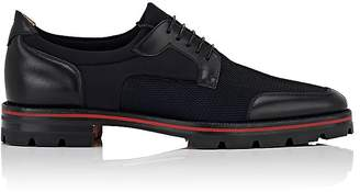 Christian Louboutin Men's Simon Flat Mesh & Neoprene Bluchers