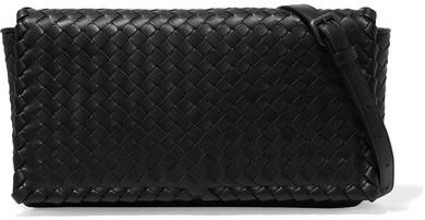 Bottega VenetaBottega Veneta - Intrecciato Leather Shoulder Bag - Black