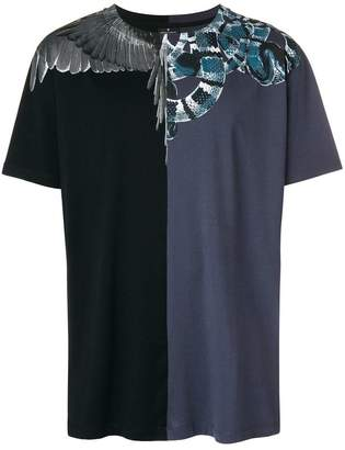 Marcelo Burlon County of Milan contrast panel wings and snakes T-shirt