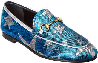 Gucci Brixton Star Textile Loafer
