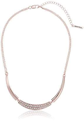 T Tahari Crystal Frontal Chain Necklace