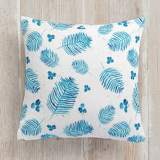 Ferns and Berries Square Pillow