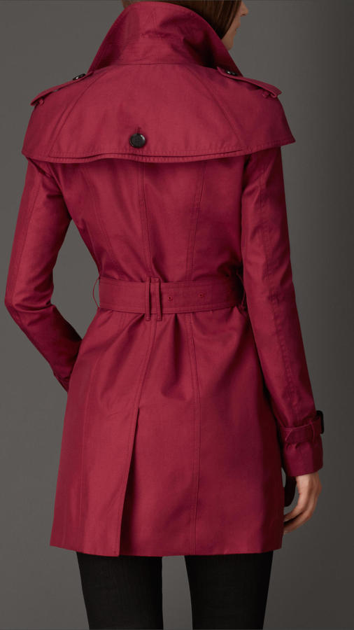 Burberry Mid-length Caped Gabardine Trench Coat