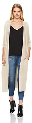 Halston Women's Long Sleeve Open Front Duster Cardigan