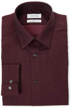 Calvin Klein Bordeaux Slim Fit Non-Iron Dress Shirt