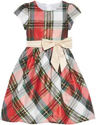 Dorissa Plaid Fit & Flare Dress
