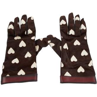 Burberry Leather long gloves