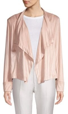 Donna Karan Draped Open-Front Jacket