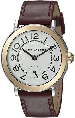 Marc Jacobs Women's 'Riley' Quartz Stainless Steel and Leather Casual Watch