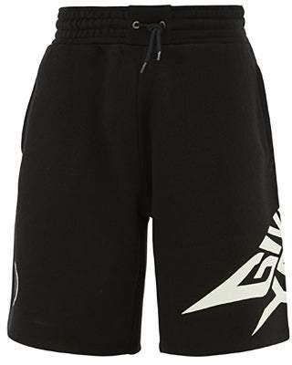 Givenchy Luminous Logo Print Cotton Shorts - Mens - Black