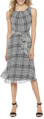 R & K Originals Sleeveless Plaid Fit & Flare Dress