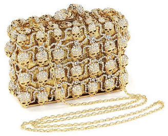 Shay Accessories Crystal Skull Clutch