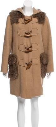 Marc Jacobs Shearling-Trimmed Alpaca Coat