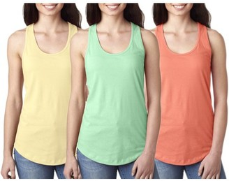 Clementine Apparel Women's Clementine Ideal Racerback Tank Top (Pack of 3)