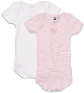 Petit Bateau 2 Pack Short-Sleeved Bodysuits 1 Month - 36 Months
