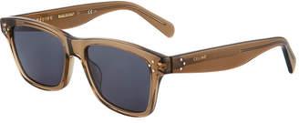 Celine Square Transparent Acetate Sunglasses