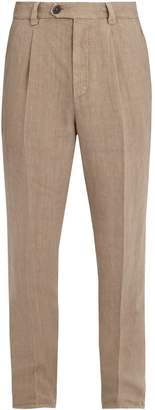 Brunello Cucinelli Slim-leg linen trousers