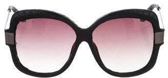 Linda Farrow Gradient Oversize Sunglasses