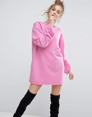ASOS Oversized Sweat Dress With Long Sleeves $43 thestylecure.com