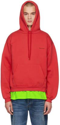 Balenciaga Red Small Logo Hoodie