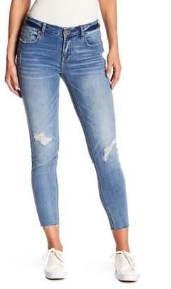 Vigoss Jagger Frayed Hem Distressed Skinny Jeans