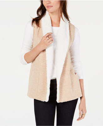 Tommy Hilfiger Faux-Shearling Open-Front Vest, Created for Macy's