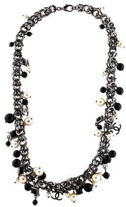 Chanel CC Faux Pearl & Beaded Necklace