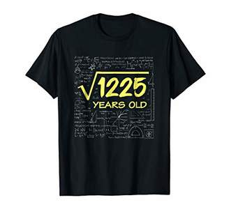 Square Root of 1225 : 1984 Birthday 35 Years Old T-shirt