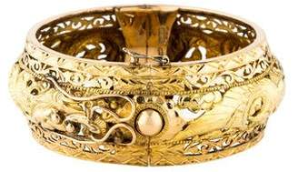 Dragon Optical 14K Hinged Bangle