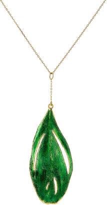 Aurelie Bidermann 18kt Gold Swan Feather Necklace