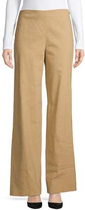 Theory Wide-Leg Linen Blend Pants