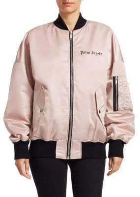 Palm Angels Satin Logo Bomber