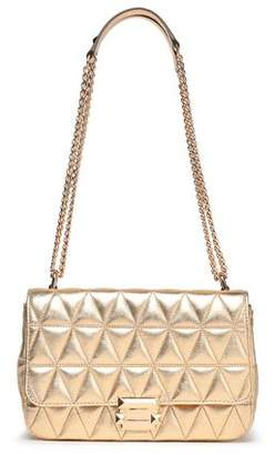 MICHAEL Michael Kors Quilted Metallic Leather Shoulder Bag