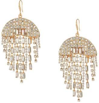 Rhinestone chandelier earrings shopstyle steve madden semi circle rhinestone chandelier earrings earring aloadofball Images