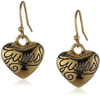 GUESS Ladies'Earrings Metal with Heart UBE80935