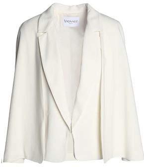 Vionnet Cape-Effect Appliquéd Crepe Jacket