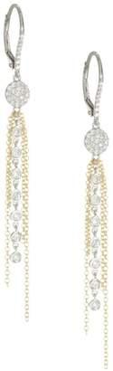 Meira T Diamond & Gold Fringe Earrings