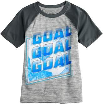 "Boys 4-12 Jumping Beans ""Goal Goal Goal"" Soccer Active Raglan Tee"