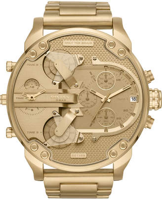 Diesel Men's Chronograph Mr. Daddy 2.0 Gold-Tone Stainless Steel Bracelet Watch 57x66mm DZ7399 $395 thestylecure.com