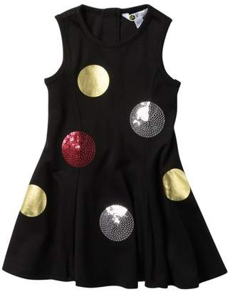 Petit Lem Dot Knit Dress (Toddler & Little Girls)