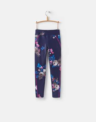 Joules Clothing Navy Floral Swift Active Leggings 32yr