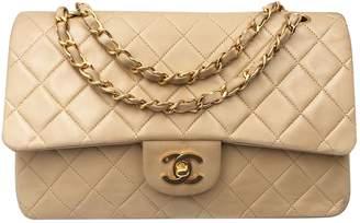 Chanel Vintage Timeless Beige Leather Handbag
