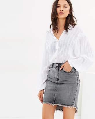 One Teaspoon 2020 High Waist Denim Skirt
