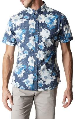 7 Diamonds Paradise Slim Fit Floral Sport Shirt