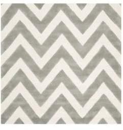 Safavieh Chevron Hand-Tufted Square Wool Rug
