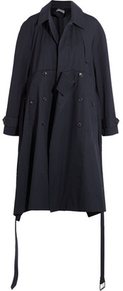 Balenciaga - Oversized Cotton Trench Coat - Navy $3,100 thestylecure.com
