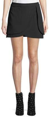 Alice + Olivia Nicolina Layered Tulip Mini Skirt