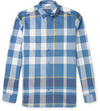 Burberry Brit Slim-Fit Checked Cotton Shirt - Men - Blue