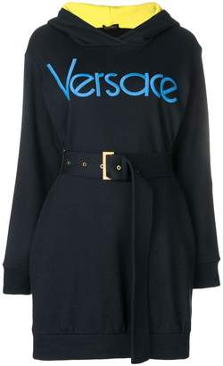 Versace vintage logo hooded dress